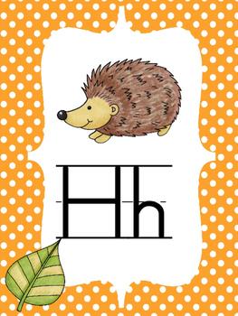 Woodland Critters Alphabet Line