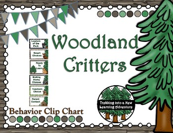 Woodland Critters Behavior Clip Chart