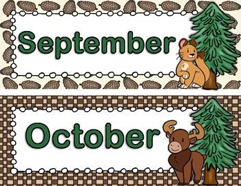 Woodland Critters Calendar Pieces