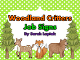 Woodland Critters Classroom Job Signs Chart