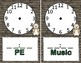 Woodland Critters Clock Labels and Clock Schedules