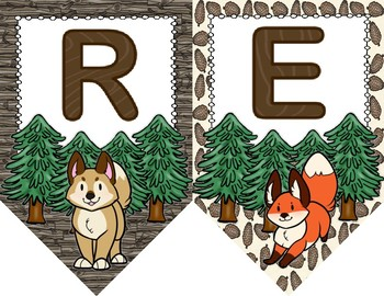 Woodland Critters Focus Wall Banners