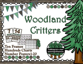 Woodland Critters Number Posters, Hundreds Chart and Ten Frames