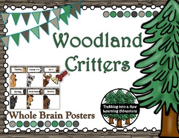 Woodland Critters Objective Posters