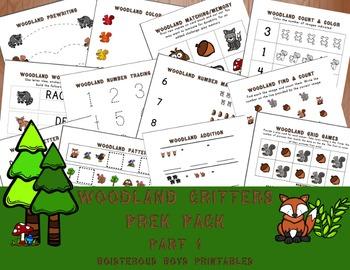 Woodland Critters PreK Printable Learning Pack Bundle (+Bonus!)