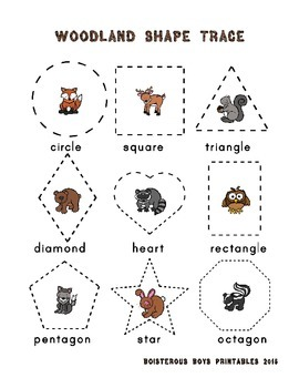 Woodland Critters PreK Printable Learning Pack - Part 3