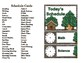 Woodland Critters Schedule Cards