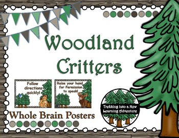 Woodland Critters Whole Brain Rules Poster