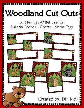 Woodland Cut Outs