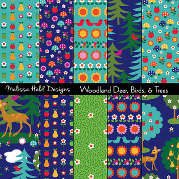 Woodland Deer Patterns