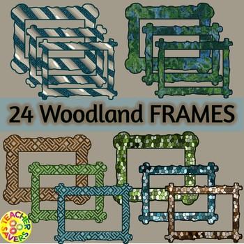 Woodland Digital Papers & Frames