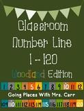 Woodland Theme Classroom Number Line