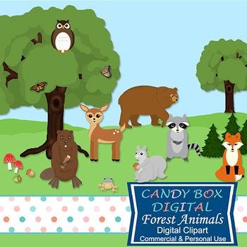 Woodland Forest Animal Clip Art - Commercial Use OK