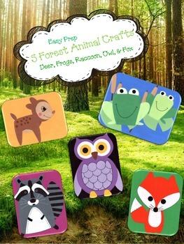 5 Forest Animal Crafts (woodland)
