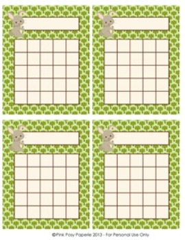 Woodland Forest Animal Incentive Reward Charts - Fox included- 4 Designs
