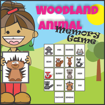 Woodland Forest Animals Memory Game