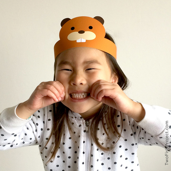 Woodland Forest Animal Paper Hats, Crafts, Face Masks/Costumes for Kids/Toddlers