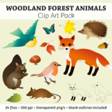 Woodland Forest Animals Clip Art Pack – Commercial