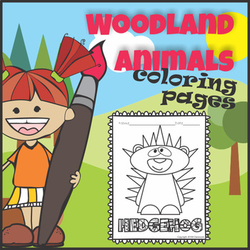 Woodland Forest Animals Coloring Pages
