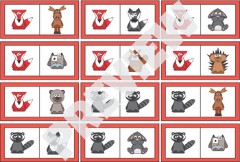 $1 Deal Woodland Forest Animals - Domino