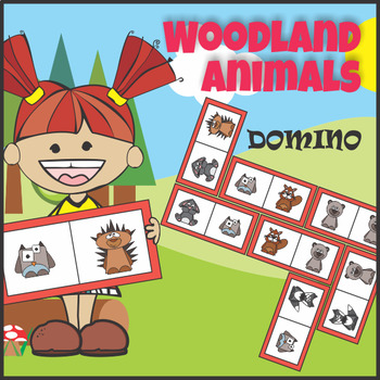 Domino Woodland Forest Animals