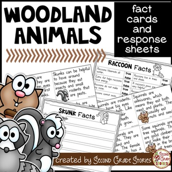 Woodland Forest Animals Fact Cards