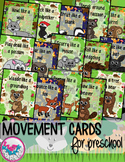 Woodland Forest Animals Movement Cards for Preschool and Brain Break
