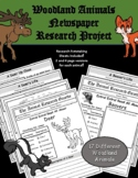 Woodland (Forest) Animals Newspaper Research Project