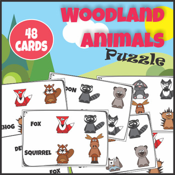 Puzzle Woodland Forest Animals