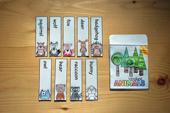 Woodland Forest Animals Sight Word Interactive Notebook Pocket $1 Deal