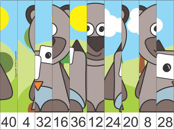 #summer2017 Woodland Forest Animals Skip Counting Picture Puzzle