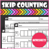 Skip Counting Worksheets Woodland Forest Animals