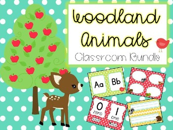 Woodland Forest Animals Theme *EDITABLE*