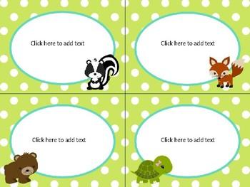 Woodland Forest Animals Theme *EDITABLE*