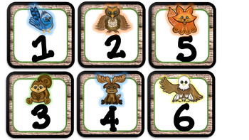 Woodland Forest Friends- Calendar and Clock numbers