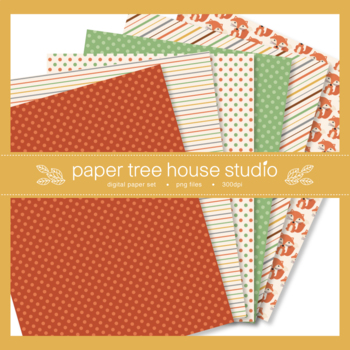 Woodland Forest Friends Digital Paper Set