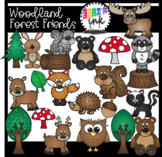 Woodland Forest Friends (Erin's Ink Clipart)