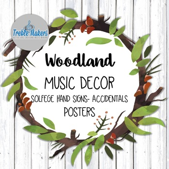 Woodland / Forest Music Decor- Chromatic Solfege Add-on