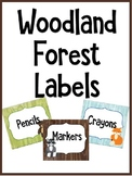 Woodland Forest Theme Labels - EDITABLE