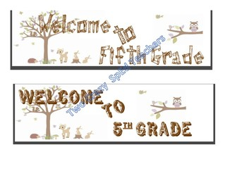 Woodland Forest Welcome Posters