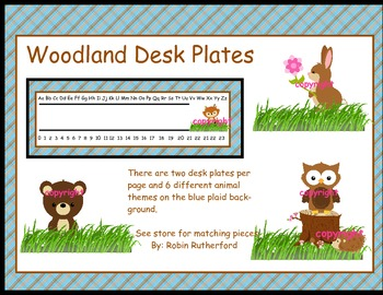 Woodland Forest theme desk name plates