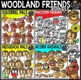 Woodland Friends Clip Art Bundle {Educlips Clipart}
