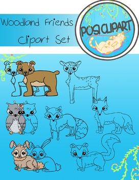 Woodland Friends Clipart Set