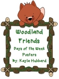 Woodland Friends Days of the Week Posters