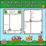 Woodland Friends Editable Classroom Newsletter Template