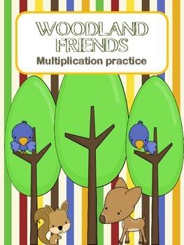 Woodland Friends Multiplication Practice