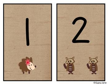 Woodland Friends Number Set