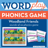 Woodland Friends vowel sounds of oo Phonics Game - Words T