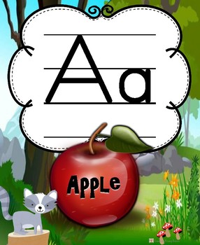 Woodland Friends Wall Alphabet