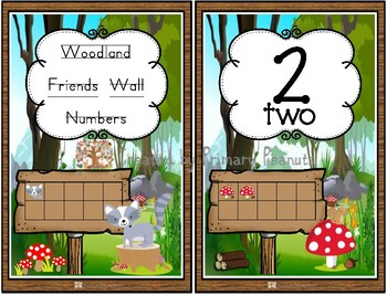 Woodland Friends wall Numbers with ten frame